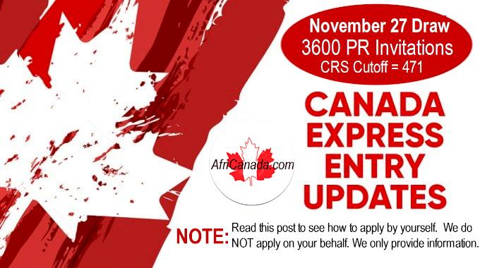 november 27 express entry draw
