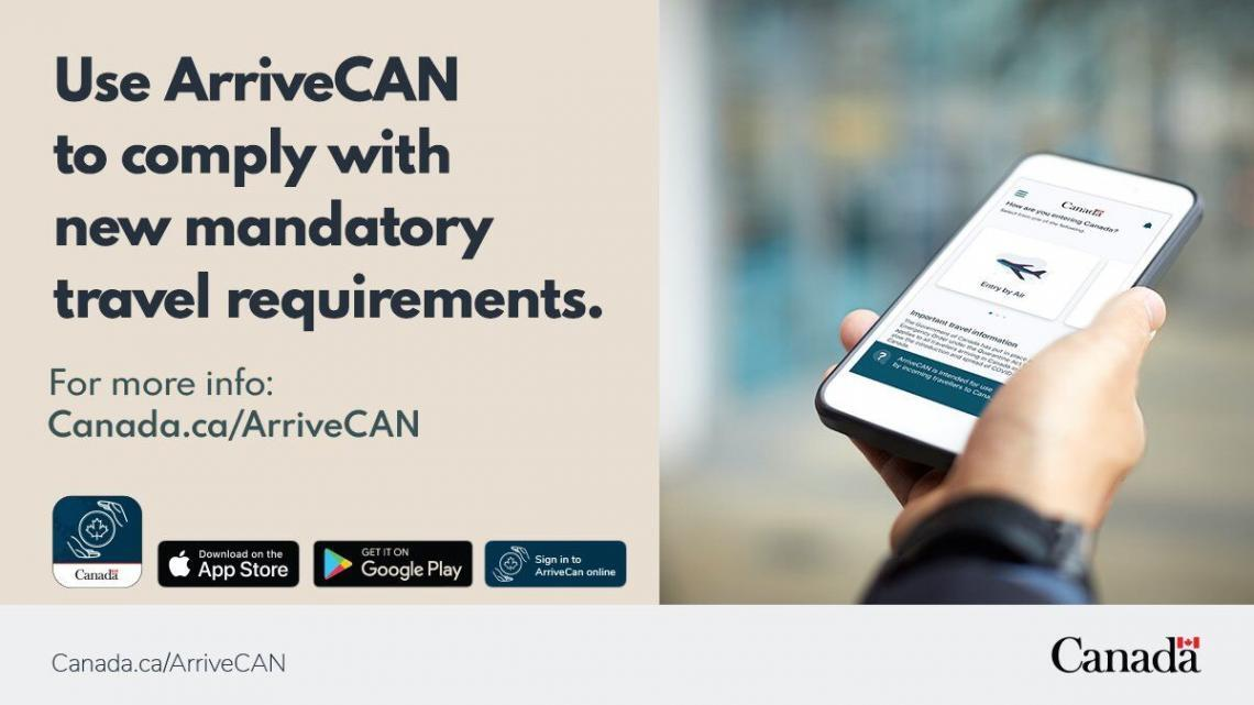 ArriveCAN app update